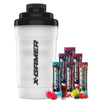 X-Gamer Shaker + Mix 6 Pack (6 x 10g) - Cover