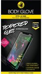 Body Glove Full Glue Tempered Glass Screen Protector for LG G8S - Clear and Black