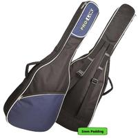 Pro-Lok Orion 5mm 3/4 Classic Acoustic Guitar Gig Bag (Black and Blue)