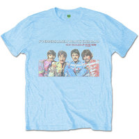 The Beatles - LP Here Now Men's T-Shirt - Blue (X-Large) - Cover