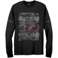 System of a Down - Eye Collage Men's Black Long Sleeve T-Shirt (XX-Large) - Cover