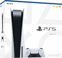 Sony PlayStation 5 - Console with Ultra HD Blu-ray Optical Drive - 825GB SSD - Glacier White (PS5) - Cover