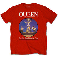 Queen - Another One Bites the Dust Men's T-Shirt - Red (Large) - Cover