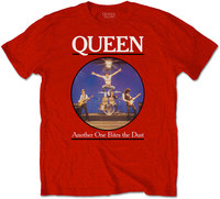 Queen - Another One Bites the Dust Men's T-Shirt - Red (Small) - Cover