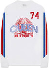 Queen - Killer Queen '74 Stripes Men's LongSleeve Shirt - White (XX-Large)