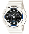 Casio G-Shock Analog and Digital Wrist Watch - White and Black