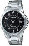 Casio Stainless Steel Analog Mens Wrist Watch - Silver and Black