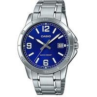 Casio Stainless Steel Analog Mens Wrist Watch - Silver and Blue