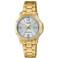 Casio Stainless Steel Womens Analog Wrist Watch - Gold and Silver