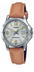 Casio Standard Ladies Collection Analog Wrist Watch - Silver and Brown