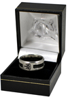 Newcastle United - Black Inlay Ring (Medium)