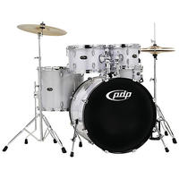 PDP Centerstage 5pc Acoustic Drum Kit with Hardware and Cymbals - Diamond (10 12 16 14 22 Inch)