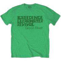 Creedence Clearwater Revival - Green River Men's T-Shirt - Green (X-Large)