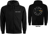 Pink Floyd - Circle Logo Backprint Ladies Zip Hoodie - Black (Large) - Cover