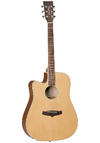 Tanglewood TW10LH Winterleaf Series Left-Handed Dreadnought Acoustic Guitar (Natural)