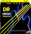 DR NYB-45 Neon Yellow 45-105 Medium Nickel Plated Steel Yellow Coated Bass Guitar Strings