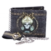Ghost - Gold Embossed Wallet With Chain