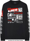 Guns N' Roses - Lies Cover Men's Long Sleeve T-Shirt - Black (Large)