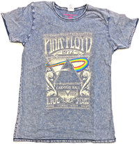 Pink Floyd - Carnegie Hall Bo Men's Denim T-Shirt (Large) - Cover