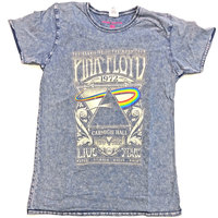 Pink Floyd - Carnegie Hall Bo Men's Denim T-Shirt (Small) - Cover