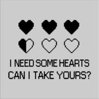 I Need Some Hearts Mens T-Shirt Grey (Large)