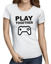 Play Together Womens T-Shirt White (Large)