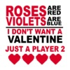 Roses Are Red Mens T-Shirt White (XXXX-Large)