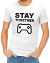 Stay Together Mens T-Shirt White (Small)
