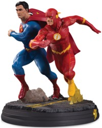 DC Collectibles - DC Gallery Superman vs. Flash Racing Statue 2nd Edition Statue - Cover