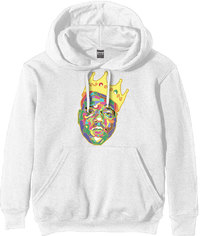 Biggie - Crown Men's Hoodie - White (Small) - Cover