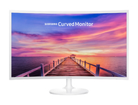 Samsung Curved 32 Full HD LED Monitor - White