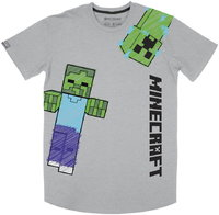 Minecraft - Scribbler Youth Boys T-Shirt - Grey (13-14 Years) - Cover