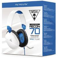 Turtle Beach - Recon 70P Wired Gaming Headset - White (PS4/PS4 Pro)