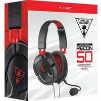 Turtle Beach - Ear Force Recon 50 Wired Gaming Headset - Black & Red (PC/Mac)