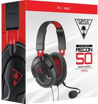 Turtle Beach - Ear Force Recon 50 Wired Gaming Headset - Black & Red (PC/Mac) - Cover