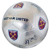 West Ham - Silver Signature Football (Size 5)