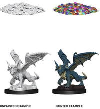 Dungeons & Dragons - Nolzur's Marvelous Unpainted Miniatures - Blue Dragon Wyrmling (Miniatures) - Cover