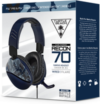 Turtle Beach - Recon 70 Ear Force Wired Gaming Headset - Blue Camo (PS4, Xbox One, Nintendo Switch, Mobile)