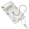 Harry Potter - Silver Plated Lightning Bolt With Glasses Necklace