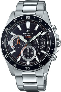 Casio Edifice Analogue Wrist Watch (Silver and Black) - Cover