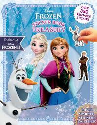 Disney Frozen II: Sticker Book Treasury (Paperback) - Cover