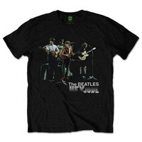 The Beatles - Hey Jude Version 2 Men's T-Shirt - Black (Large) - Cover