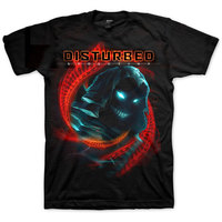 Disturbed - DNA Swirl Men's T-Shirt - Black (Small) - Cover