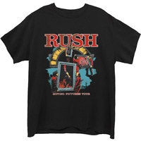 Rush - Moving Pictures Men's T-Shirt - Black (Large) - Cover