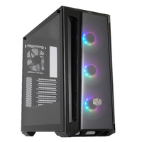 Cooler Master Masterbox MB520 ATX Case - Black with Tempered Glass - Cover