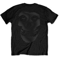 The Misfits - Tonal Fiend Skull Backprint Men's Black T-Shirt (Small) - Cover