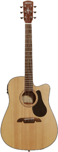 Alvarez AD30CE Artist 30 Series Dreadnought Acoustic Electric Guitar (Natural) - Cover