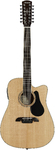Alvarez AD60-12CE Artist 60 Series 12-String Dreadnought Acoustic Guitar (Natural)