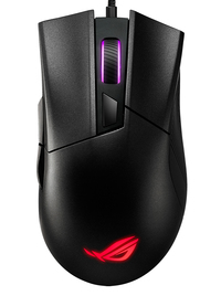Asus ROG Gladius II Core Lightweight; Ergonomic; Wired Optical Gaming Mouse With 6200-Dpi Sensor; Rog-Exclusive Switch-Socket Design - Cover