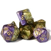 Gate Keeper Games - Set of 7 Polyhedral Dice - Halfsies: Queen's